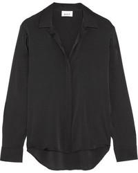 schwarzes Seidehemd von DKNY
