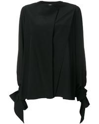 schwarzes Seidehemd von Givenchy