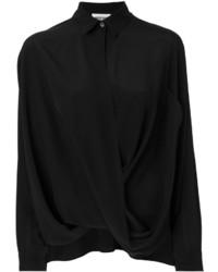 schwarzes Seidehemd von Moschino