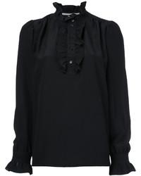 schwarzes Seidehemd von Stella McCartney