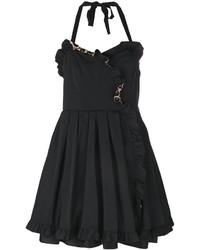 schwarzes Seidekleid mit Rüschen von Marc Jacobs