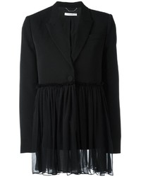 schwarzes Seidesakko von Givenchy