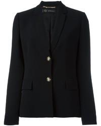 schwarzes Seidesakko von Versace