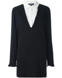 schwarzes Seideshirtkleid von Salvatore Ferragamo