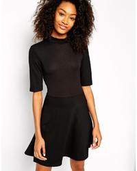 schwarzes Skaterkleid von Vero Moda
