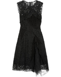 schwarzes Spitze Cocktailkleid von Nina Ricci
