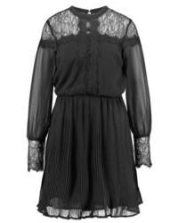 schwarzes Spitze Etuikleid von Vero Moda