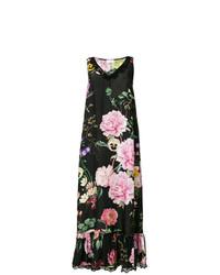 schwarzes Spitze Maxikleid mit Blumenmuster von P.A.R.O.S.H.