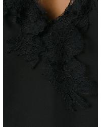 schwarzes Spitze Trägershirt von Lanvin