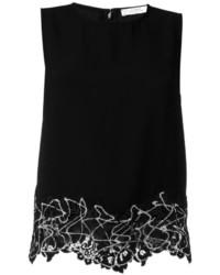 schwarzes Spitze Trägershirt von Versace