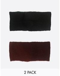 schwarzes Strick Haarband von Asos