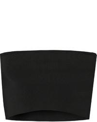 schwarzes Strick kurzes Oberteil von Calvin Klein Collection
