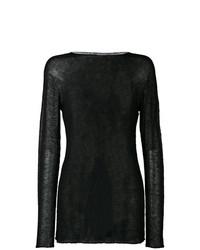 schwarzes Strick Sweatshirt von Rick Owens