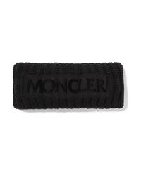 schwarzes Strick Wollhaarband von Moncler