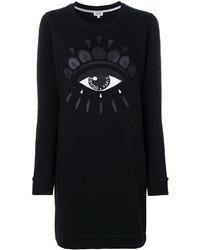 schwarzes Sweatkleid von Kenzo