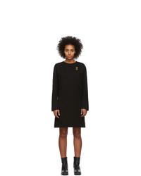 schwarzes Sweatkleid von McQ Alexander McQueen