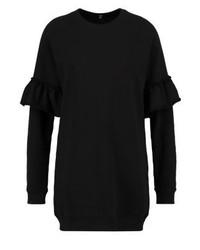 schwarzes Sweatkleid von Missguided
