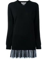 schwarzes Sweatkleid von RED Valentino