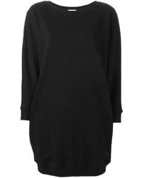 schwarzes Sweatkleid von Saint Laurent