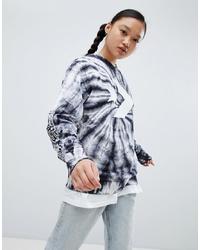 schwarzes Mit Batikmuster Sweatshirt von Converse