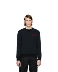 schwarzes Sweatshirt von Alexander McQueen