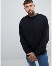 schwarzes Sweatshirt von ASOS DESIGN