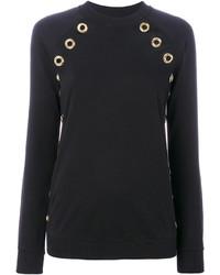 schwarzes Sweatshirt von Balmain