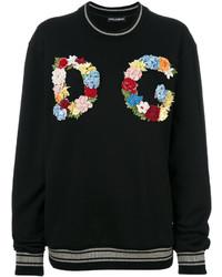 schwarzes Sweatshirt von Dolce & Gabbana