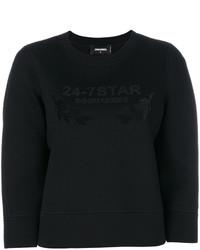 schwarzes Sweatshirt von Dsquared2