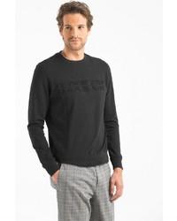 schwarzes Sweatshirt von Lufian