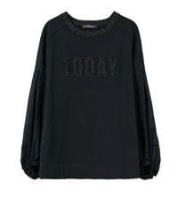 schwarzes Sweatshirt von Mango