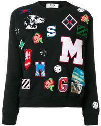 schwarzes Sweatshirt von MSGM
