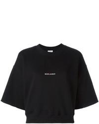 schwarzes Sweatshirt von Saint Laurent