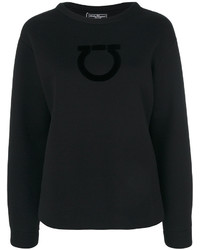 schwarzes Sweatshirt von Salvatore Ferragamo
