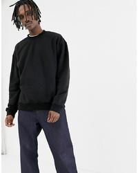 schwarzes Sweatshirt von Weekday