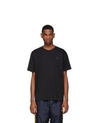 schwarzes T-Shirt mit einem Rundhalsausschnitt von Acne Studios