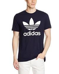 schwarzes T-Shirt mit einem Rundhalsausschnitt von adidas