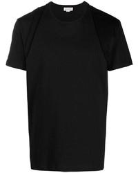 schwarzes T-Shirt mit einem Rundhalsausschnitt von Alexander McQueen