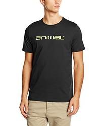 schwarzes T-Shirt mit einem Rundhalsausschnitt von Animal
