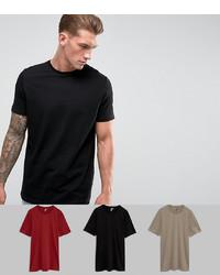 schwarzes T-Shirt mit einem Rundhalsausschnitt von ASOS DESIGN