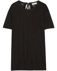 schwarzes T-Shirt mit einem Rundhalsausschnitt von Balenciaga