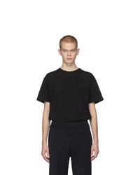 schwarzes T-Shirt mit einem Rundhalsausschnitt von Bottega Veneta