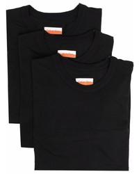 schwarzes T-Shirt mit einem Rundhalsausschnitt von Calvin Klein