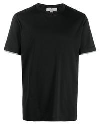 schwarzes T-Shirt mit einem Rundhalsausschnitt von Canali