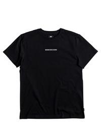 schwarzes T-Shirt mit einem Rundhalsausschnitt von DC Shoes