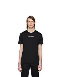 schwarzes T-Shirt mit einem Rundhalsausschnitt von Dolce and Gabbana