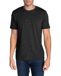 schwarzes T-Shirt mit einem Rundhalsausschnitt von Eddie Bauer