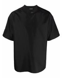 schwarzes T-Shirt mit einem Rundhalsausschnitt von Emporio Armani