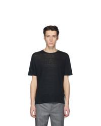 schwarzes T-Shirt mit einem Rundhalsausschnitt von Etro