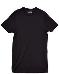 schwarzes T-Shirt mit einem Rundhalsausschnitt von Garage